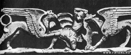 Рельеф на саркофаге из Тарента. Южная Италия. IV в. до н.э.
