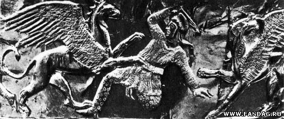 Фрагмент изображений на головном уборе. Большая Близница