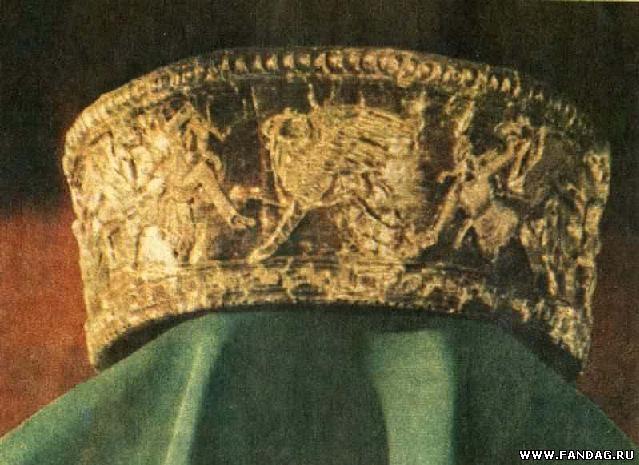 Ритуальный головной убор из погребения в кургане Большая Близница на Таманском полуострове. IV в. до н.э.