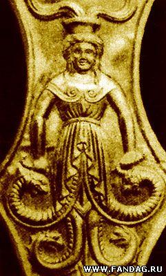 Змееногая богиня скифов. Золотой конский налобник, Цимбалка