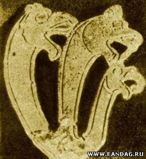 Трехглавый дракон. Фрагмент псалия, Елизаветинская